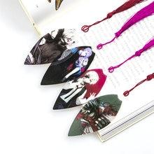 16pcs/lot Japanese Anime Tokyo Ghoul Bookmarks Waterproof Transparent PVC Plastic Bookmark Colorful Kids Cartoon Bookmarkers
