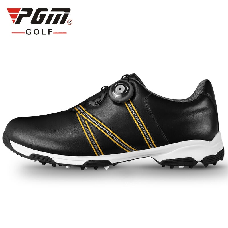 New 2018 Men Golf Shoes Genuine Leather Anti-Skid Waterproof Breathable Sports Sneakers AA51041