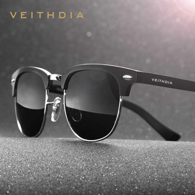 VEITHDIA Al-Mg Alloy Retro Vintage Retro Retro แว่นตากันแดดผู้ชายแบรนด์ผู้หญิงแว่นตากันแดด gafas oculos de sol 6690