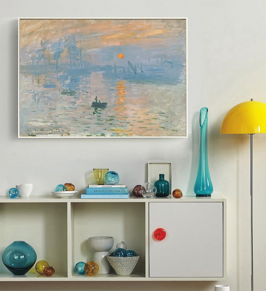 Monet Impression soleil classic Canvas Art painting on the wall canvas art Home Decortiov for living room