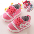 baby 0-2 year old 11--13CM Spring/Autumn fashion flower canvas Flower princess girl shoes casual sneakers
