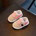 Da Criança do bebê Sapatos Casuais Estrela de Cinco pontas-Costura 2016 Outono Meninos e Meninas de Esportes Suaves Sapatos Da Criança Inferior 0-1-2 Anos