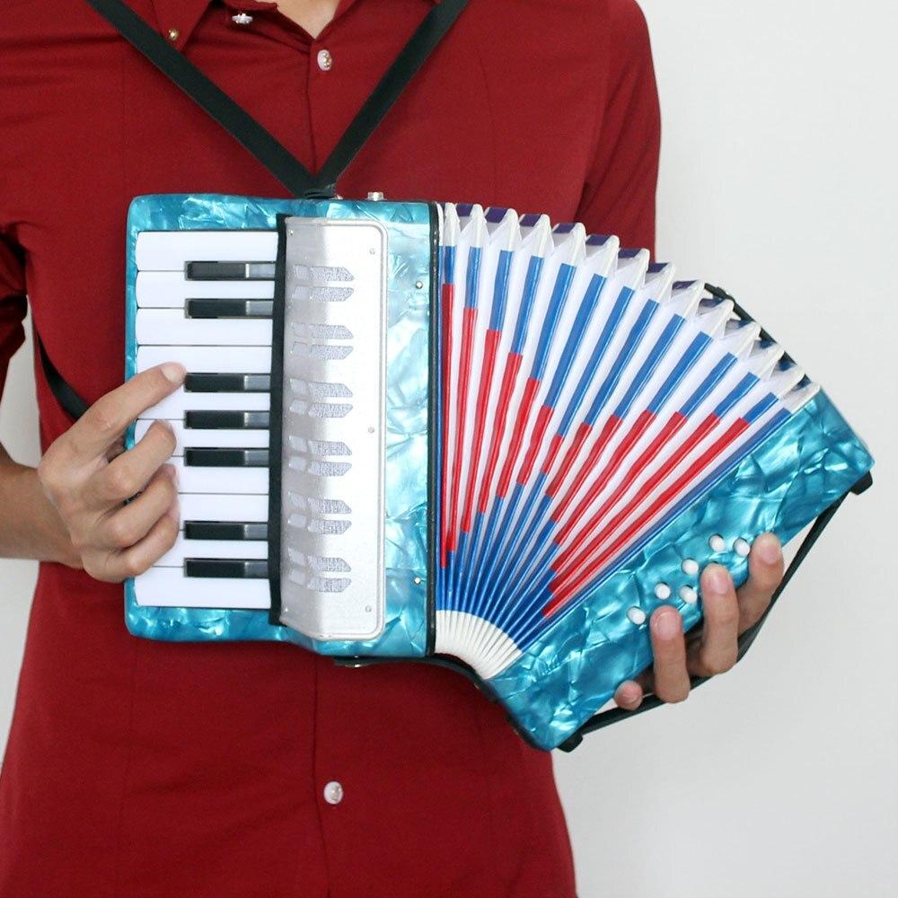 Mini petit 17-Key 8 basse accordéon éducatif Instrument de musique jouet pour enfants enfants Amateur débutant cadeau de noël - 4