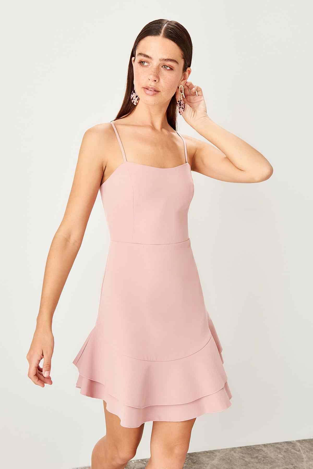 5d02493bbc Detail Feedback Questions about Trendyol Color Rose Flounces Dress ...