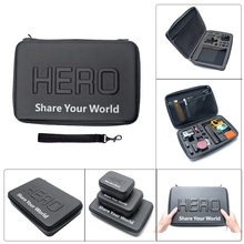 Hero 5 bag Shockproof Waterproof Hard carring Case Storage Box For Xiaomi Yi 4K for GoPro Hero 7 6 5 4 SJCAM SJ4000 SJ6 Camera все цены
