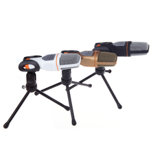 Orginal TGETH  Wired Stereo Condenser SF-666 Microphone With Holder Stand Clip For PC Chatting Singing Karaoke Laptop