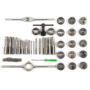 Image 5 - 20/40pcs/Set Metric Tap Wrench Tip And Die Set M3 M12 Screw Thread Metric Plugs Taps Nut Bolt Alloy Metal Hand Tools