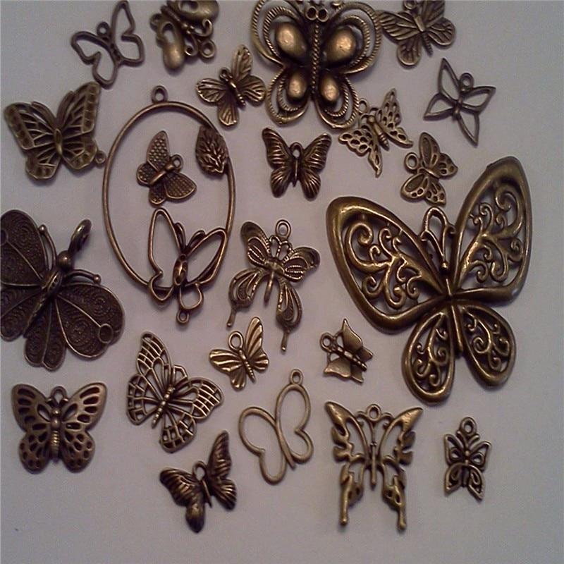 5PCS Antiqued Bronze Tone Vintage Alloy Tree Leaf Pearl Pendant Charms 37938