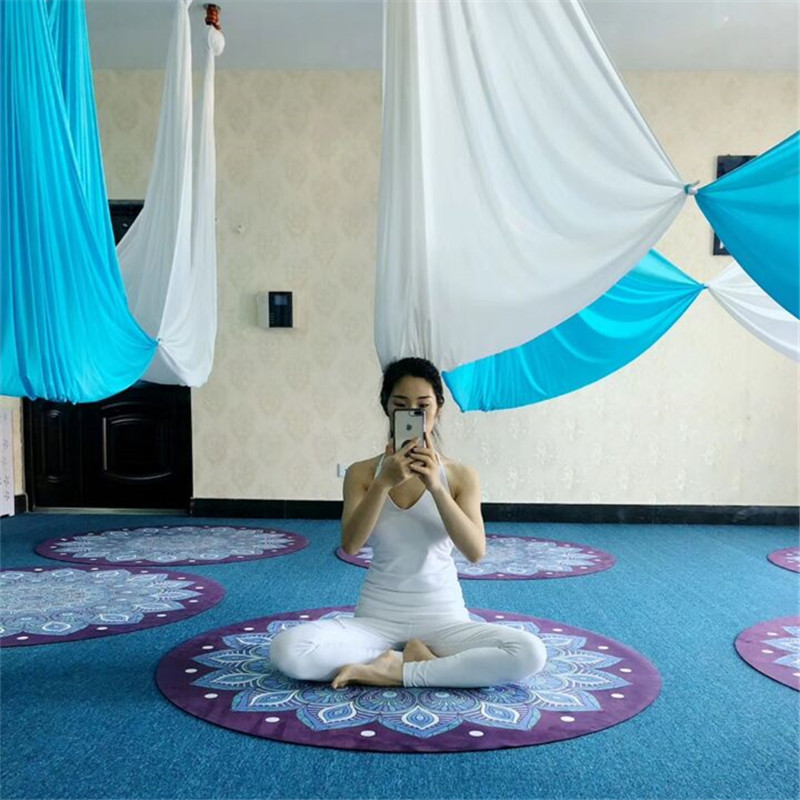 Blue Song Aerial Yoga Hammock 6 7 8 9 10meters Fabric ONLY 20 color 2 8m