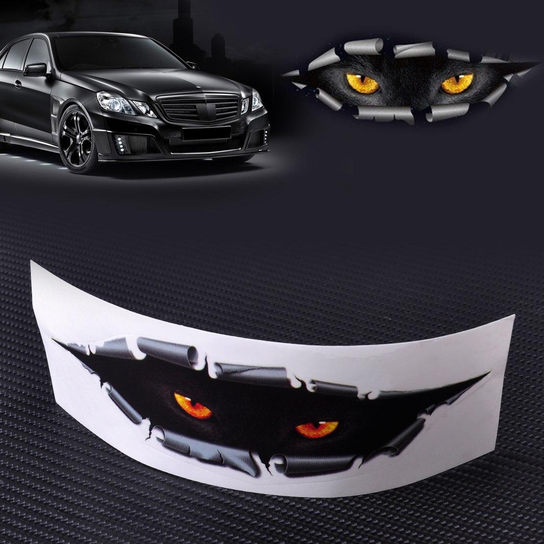 СИТАЛЛ автомобиль-стайлинг забавный 3D моделирование монстр глаз леопарда выглядывает стикер окна автомобиля авто зеркало Грузовики холодильник весь корпус