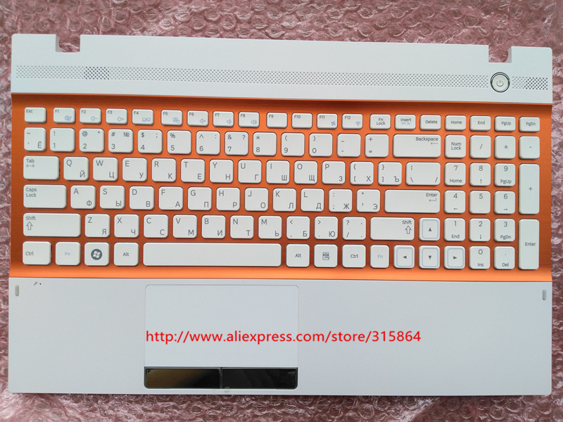 Russian New laptop keyboard with touchpad palmrest for Samsung NP300V5A NP305V5A 300V5A BA75-03246C RU layout ru latin layout backlit new laptop keyboard with touchpad palmrest for samsung rf712 ba75 03150k