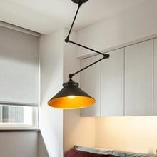 Lámpara colgante de hierro plegable para dormitorio, estudio, Bar, restaurante, luces ajustables creativas, bricolaje, estilo nórdico