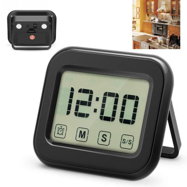 Kitchen Cooking Timers Digital Kitchen Timer Large Touch Sensor LCD Display  Magnetic Backing Loud Clock Time