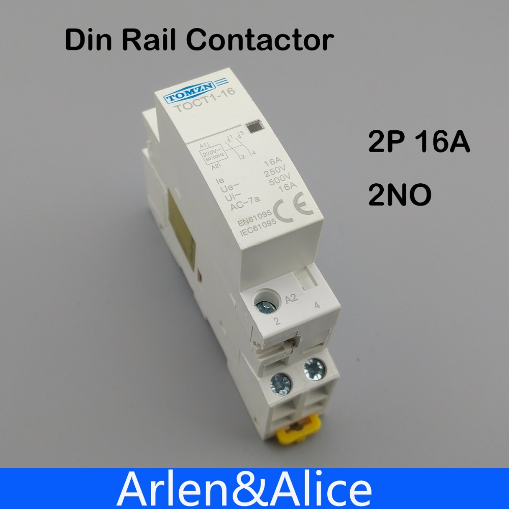 TOCT1 2 P 16A 220 V/230 V 50/60 HZ rail Din Ménage ac contacteur Modulaire 2NO ou 1NO 1NF