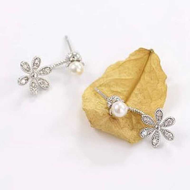 New Fashion Big White Flower Earrings For Women Gold/Silver Jewelry Bijoux Elegant Gift