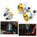 Oro 6 MM Universal CNC de Aluminio de La Motocicleta Basculante Sliders Carretes Basculante bobinas de Pie Paddock Para Yamaha YZF R1 R6 R6S