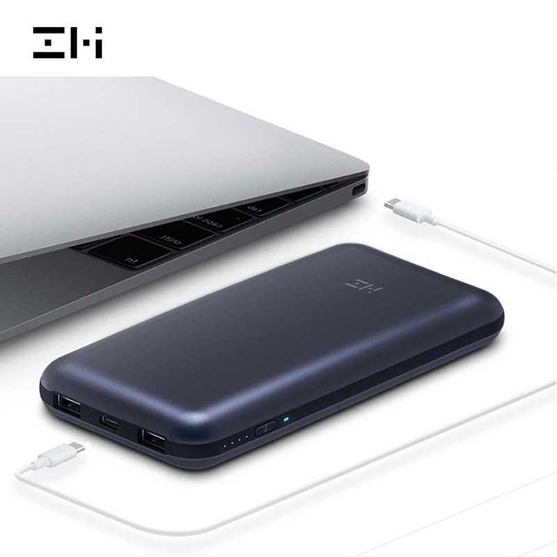 Xiaomi ZMI batterie externe 20000 mah batterie externe QC 3.0 Charge Notebook batterie externe double Ports batterie externe pour ordinateur portable QB820