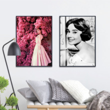 Audrey Hepburn Movie Star Vintage Nordic Posters And Prints Wall Art Canvas Paintings On The Pictures For Living Room Decor