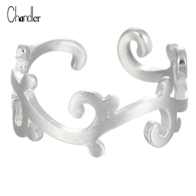 Verkliga 925 Sterling Silver Branch Leaves Knuckle Toe Ringar för Kvinnor Justerbara Wedding Rattan Baque Girls Christmas Present Smycken