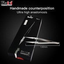 Kaisi антистатические щипцы керамические Fly line отпечатков пальцев Пинцет для телефона медный провод ремонт клип джемпер линии 0,01 мм