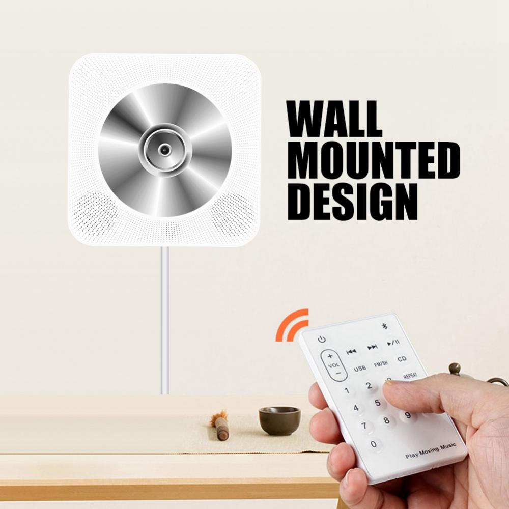 New Wall Mounted Bluetooth CD Player Speaker with Remote Control for US plug 1 pc new replacement tv remote control for samsung ak59 00172a for dvd blu ray player bd f5700 without battery