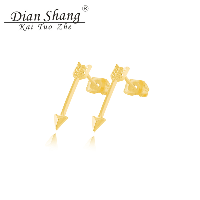 DIANSHANGKAITUOZHE 10Pair Brincos Jewelry Gold Silver Vintage Men Earring One Direction Retro Arrow Stud Earrings For Women BFF