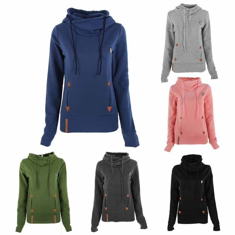 Winter Autumn 2018 Women Hoodies Female Warm Hooded Sweatshirt Long Sleeve Pockets Casual Loose Pullovers Plus Size S-XL