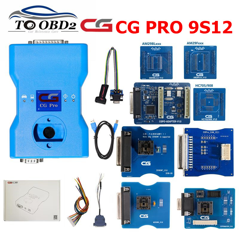 2019 Original CG Pro 9S12 for Freescale key Programmer with CAN V2 1 35160WT 3IN1 Adapters