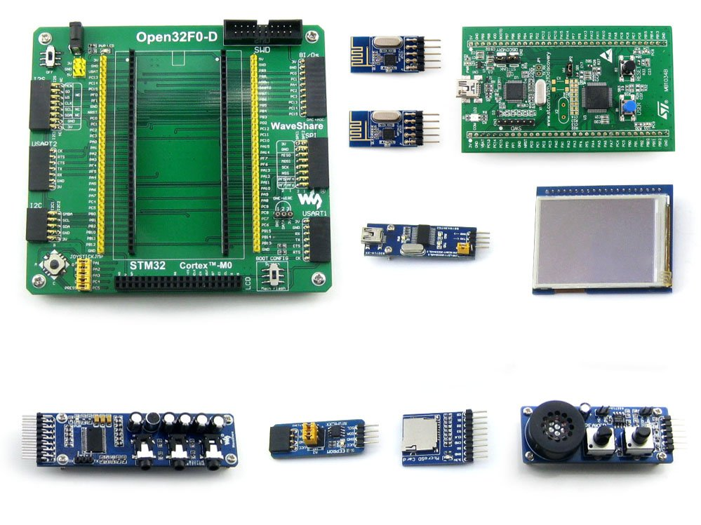 Modules STM32 Cortex-M0 STM32F051R8T6 With STM32F0DISCOVERY Kit STM32 Development Board +2.2inch Touch LCD+Modules=Open32F0-D Pa modules stm32 board with stm32 discovery kit 32f429i disco mother board 10 modules kits 32f429idiscovery cortex m4 development