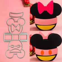 Mickey Minnie basket box Metal Cut Dies Christmas Stencils For DIY Scrapbook Paper Card Decorative Craft Embossing Die Cuts