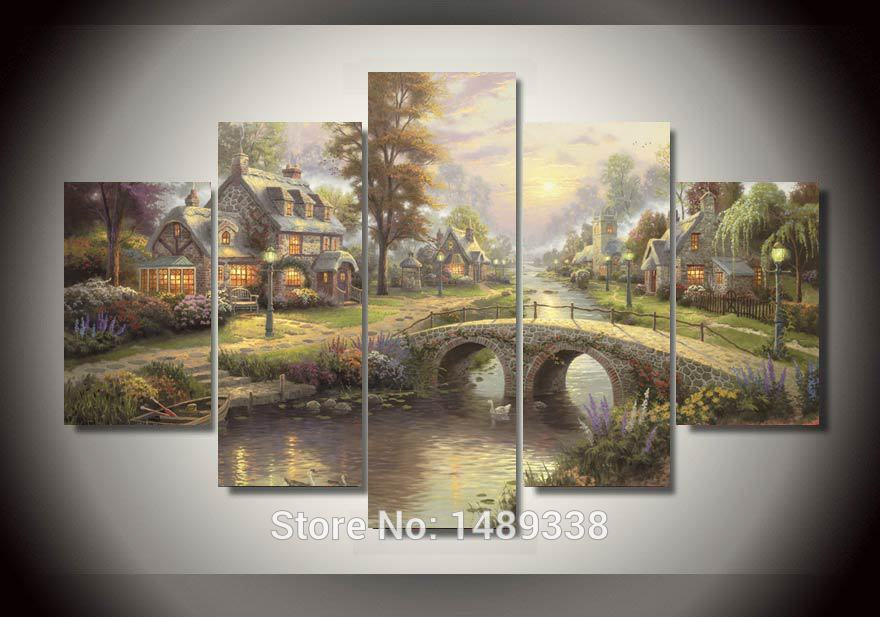 Online buy wholesale thomas kinkade prints from china - Home interiors thomas kinkade prints ...