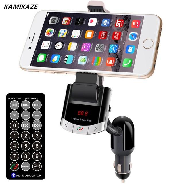 9d1912a8aa5 Cargador de coche Bluetooth Transmisor FM con Soporte Del Teléfono Del Coche  Kit de Coche Bluetooth