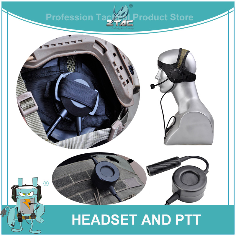 Zselex TASC1 Headset AND PTT SET TO Hot Sell High Quality And  Reasonable Price(Z028+Z114)