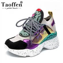 Taoffen New Fashion 2019 PU/Real Leather Ins Hot Style Vulcanized