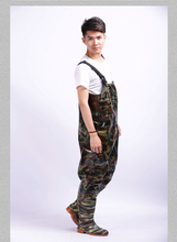 Waterproof Breathable Fishing Chest Waders Thickening Camouflage Wading Boots botas de pesca militares hombre army shoes men