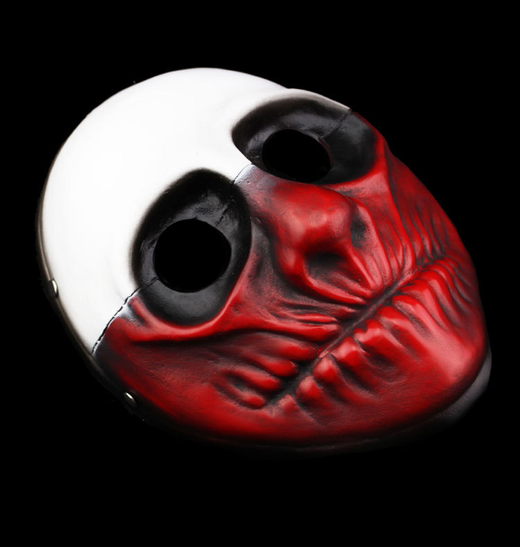 men horror pay day masks wolf payday mascaras de carnaval demon resin joker masquerade