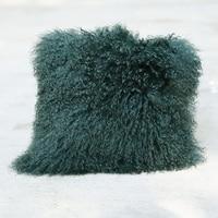 Free Shipping CX D 04R Custom Made Mongolia Lamb Fur Cushion Home Decoration Accessories