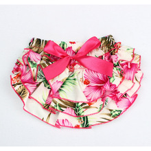 Ruffle Bloomers Shorts Diaper-Cover Baby-Girls Toddler Cotton Flower-Bow YC011 PP Fashion