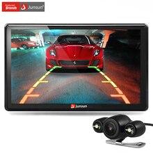 Junsun 7 cal car gps navigator bluetooth z tylnej kamery mp3 mp4 256 mb ddr/800 mhz szczegółowe nadajnik fm + free najnowszej mapie