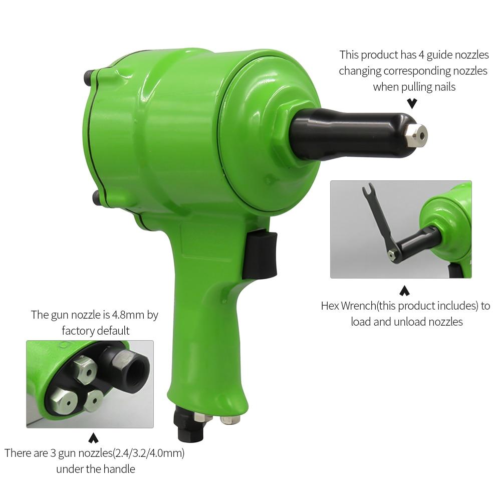 Pro Air Riveter Pneumatic Pistol Type Pop Rivet Gun Air Power Operated Riveter Rivet Instrument