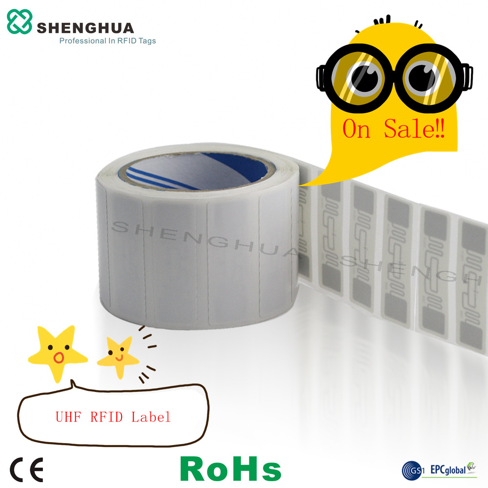 2000pcs/roll EPC CLASS1 GEN2 Alien H3 Chip ALN9662 UHF TAG RFID Label PRINTABLE PROGRAMMABLE UID