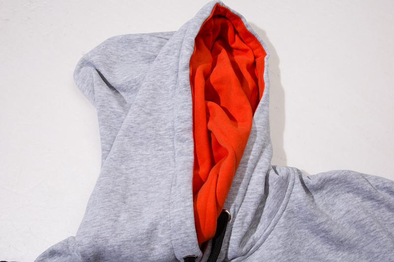 Zipper Sleeve Color Block Hoodies 3