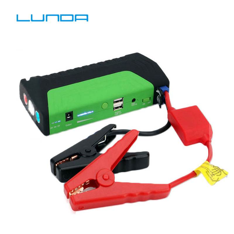 LUNDA High-capacity Car jump starter Mobile Devices digital products power bank charger pack for auto vehicle starting TM15green