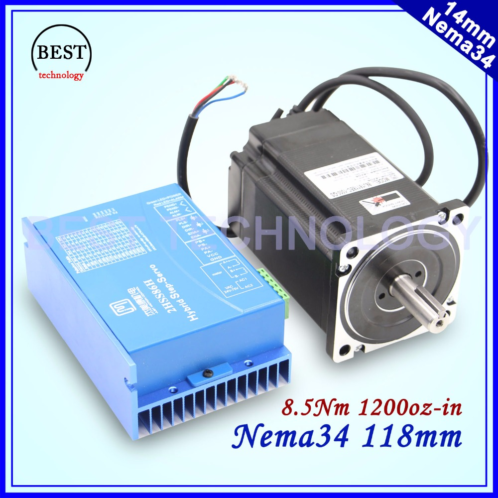 Nema34 Closed Loop Motor 8.5Nm Hybrid Stepping Motor Hybrid Motor Nema 34 6A 1200Oz-in Motor Driver DC(40-110V) / AC(60-80V) бу запчасти опель астра
