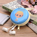 Lovely Cartoon Tinplate Storage Bag Desk Organizer Mini Earphone Headphone Case Multi-color Carrying Pouch Bag Drop Shipping
