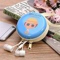 Preciosa Caja de Hojalata de Dibujos Animados Bolsa de Almacenamiento Organizador de Escritorio Mini Auricular Del Auricular multicolor Bolsa de Transporte Bolsa de Envío de La Gota