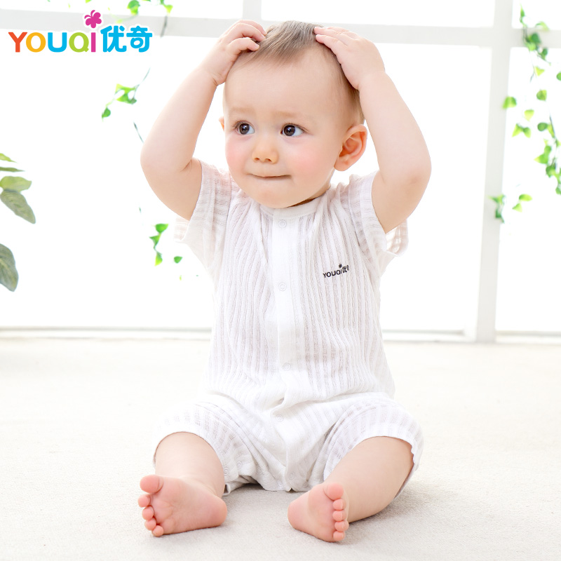 31534b09f594 ... Boys Girls Clothes 3 6 9 Months Cute Infant Jumpsuit Clothing. Sale!  YOUQI-Summer-Baby-Rompers-100-Cotton-Brand-Baby-