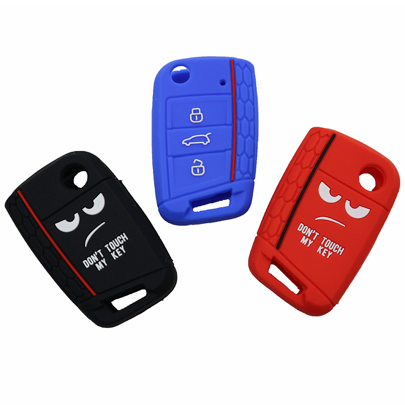 Dont Touch My Key 3 Buttons Car Key Case Shell ForVW Golf 7 MK7 Seat Leon 3 Ibiza 4 5 Toledo 4 Arona Ateca Skoda Octavia