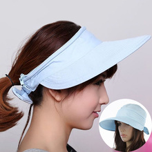 Fashion Women Wide Brim Sun Hat Summer Double Use UV Protection Visor Hat Detachable Empty Top Caps Girls Outdoor Beach Flat Cap цена