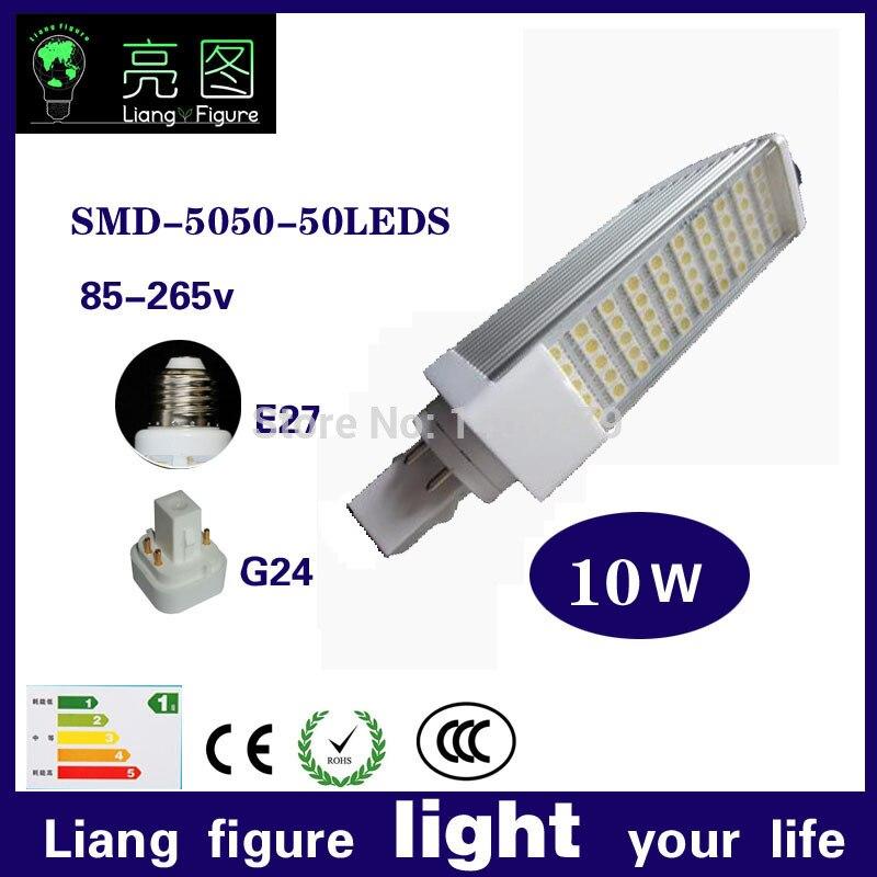Реальная власть 2pins g24d 1 G24d 3 G24d 3 лампы PL 10 Вт SMD5730 5050 2835 AC85 265V 110 В 220 В
